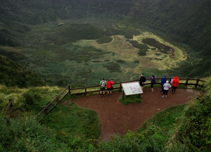 A caldeira, vulkankratern på Faial.