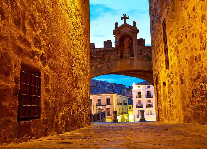 Cáceres, gamla stan