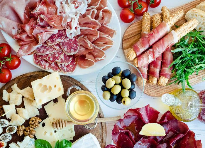 Läcker italiensk antipasto